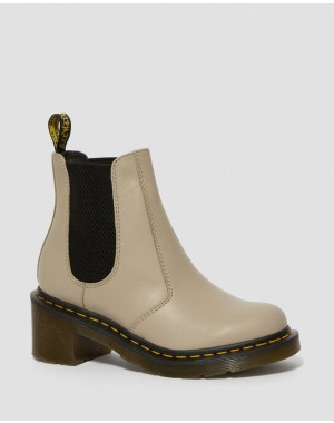 Black Friday Sale Dr. Martens CADENCE WOMEN'S LEATHER HEELED CHELSEA BOOTS - NATURAL WANAMA