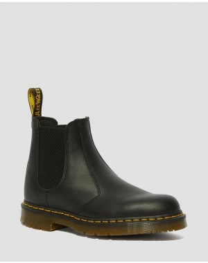 Dr.Martens 2976 SLIP RESISTANT LEATHER CHELSEA BOOTS - BLACK INDUSTRIAL FULL GRAIN - Sale