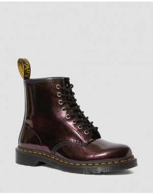 Black Friday Sale Dr. Martens 1460 SPARKLE METALLIC LACE UP BOOTS - PURPLE SPARKLE