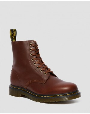 Black Friday Sale Dr. Martens 1460 PASCAL CLASSICO LEATHER LACE UP BOOTS - BROWN CLASSICO