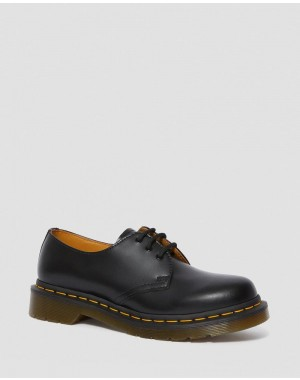 Black Friday Sale Dr. Martens 1461 WOMEN'S SMOOTH LEATHER OXFORD SHOES - BLACK SMOOTH