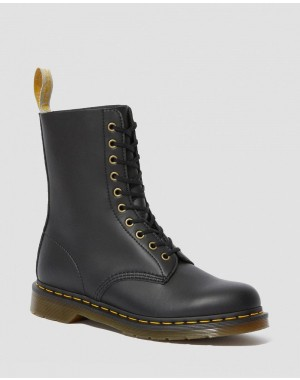 Black Friday Sale Dr. Martens VEGAN 1490 FELIX MID CALF BOOTS - BLACK FELIX RUB OFF