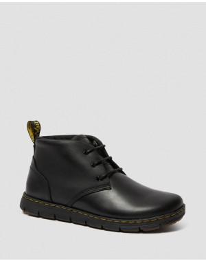 Dr.Martens RHODES MEN'S LEATHER CHUKKA BOOTS - BLACK BERKLEY - Sale