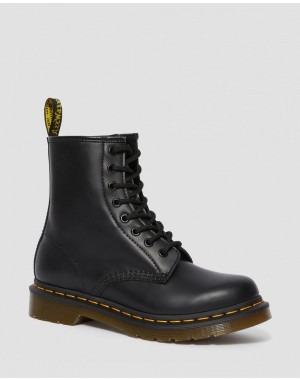 Dr.Martens 1460 WOMEN'S SMOOTH LEATHER LACE UP BOOTS - BLACK SMOOTH - Sale