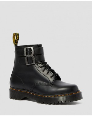 Black Friday Sale Dr. Martens 1460 SMOOTH LEATHER BUCKLE BOOTS - BLACK SMOOTH