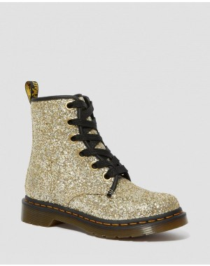 Black Friday Sale Dr. Martens 1460 WOMEN'S CHUNKY GLITTER LACE UP BOOTS - GOLD CHUNKY GLITTER