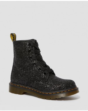Black Friday Sale Dr. Martens 1460 WOMEN'S CHUNKY GLITTER LACE UP BOOTS - BLACK CHUNKY GLITTER