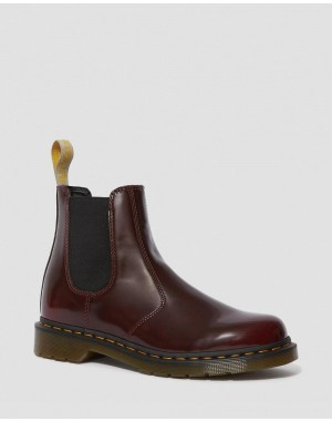 Black Friday Sale Dr. Martens VEGAN 2976 CHELSEA BOOTS - CHERRY RED OXFORD RUB OFF