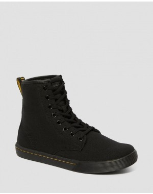 Dr.Martens SHERIDAN WOMEN'S CANVAS CASUAL BOOTS - BLACK CANVAS - Sale