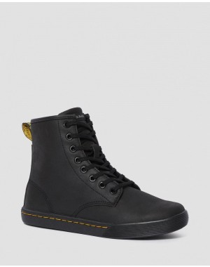 Black Friday Sale Dr. Martens SHERIDAN WOMEN'S MATTE CASUAL BOOTS - BLACK MOHAWK NON WOVEN SYNTHETIC