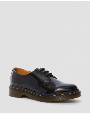 Black Friday Sale Dr. Martens 1461 PATENT WOMEN'S LEATHER OXFORD SHOES - BLACK PATENT LAMPER