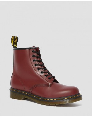 Dr.Martens 1460 SMOOTH LEATHER LACE UP BOOTS - CHERRY RED SMOOTH - Sale