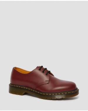 Dr.Martens 1461 SMOOTH LEATHER OXFORD SHOES - CHERRY RED SMOOTH - Sale