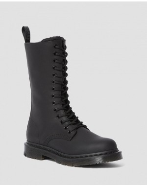 Black Friday Sale Dr. Martens 1914 WOMEN'S DM'S WINTERGRIP TALL BOOTS - BLACK SNOWPLOW