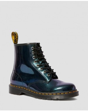 Black Friday Sale Dr. Martens 1460 SPARKLE METALLIC LACE UP BOOTS - TEAL SPARKLE