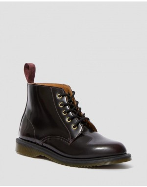 Black Friday Sale Dr. Martens EMMELINE ARCADIA LEATHER LACE UP ANKLE BOOTS - CHERRY RED ARCADIA
