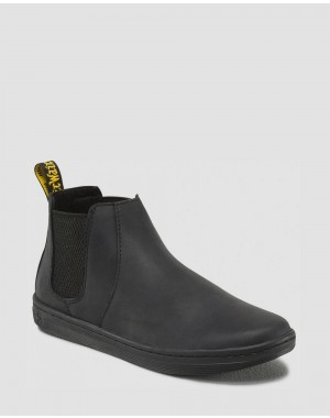 Dr.Martens KATYA WOMEN'S LEATHER CASUAL CHELSEA BOOTS - BLACK WYOMING - Sale