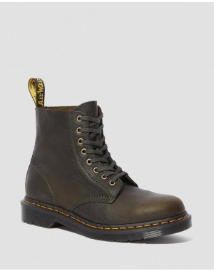 Black Friday Sale Dr. Martens 1460 PASCAL AMBASSADOR LEATHER LACE UP BOOTS - GREEN LAKE AMBASSADOR