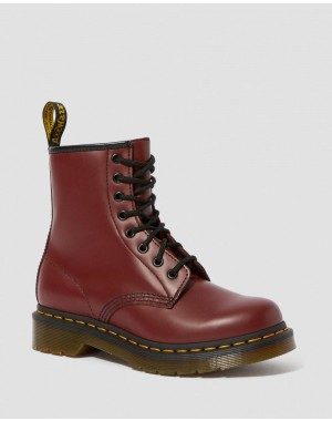 Dr.Martens 1460 WOMEN'S SMOOTH LEATHER LACE UP BOOTS - CHERRY RED SMOOTH - Sale