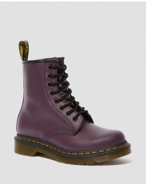 Dr.Martens 1460 WOMEN'S SMOOTH LEATHER LACE UP BOOTS - PURPLE SMOOTH - Sale