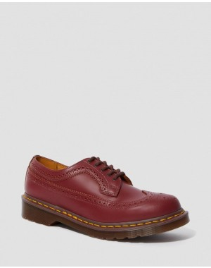 Dr.Martens 3989 VINTAGE MADE IN ENGLAND BROGUE SHOES - OXBLOOD QUILON - Sale