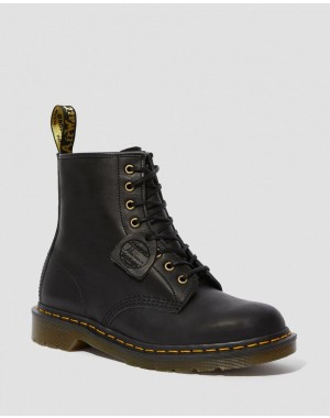Dr.Martens 1460 MADE IN ENGLAND HORWEEN LEATHER BOOTS - BLACK DUBLIN - Sale