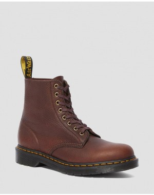Dr.Martens 1460 PASCAL AMBASSADOR LEATHER LACE UP BOOTS - CASK AMBASSADOR - Sale