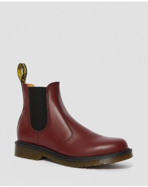 Black Friday Sale Dr. Martens 2976 SMOOTH LEATHER CHELSEA BOOTS - CHERRY RED SMOOTH