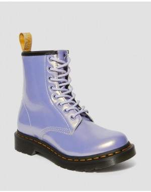Dr.Martens VEGAN 1460 WOMEN'S OPALINE LACE UP BOOTS - PURPLE HEATHER OPALINE - Sale