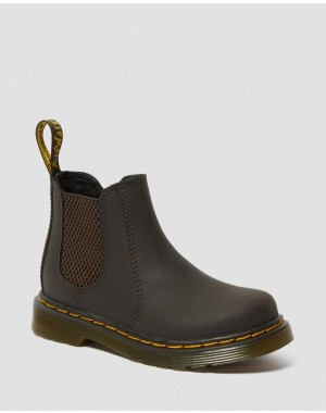 Black Friday Sale Dr. Martens TODDLER 2976 WILDHORSE LEATHER CHELSEA BOOTS - GAUCHO WILDHORSE LAMPER