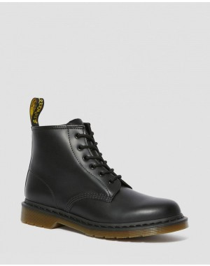 Dr.Martens 101 SMOOTH LEATHER ANKLE BOOTS - BLACK SMOOTH - Sale