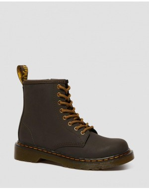 Dr.Martens JUNIOR 1460 WILDHORSE LEATHER LACE UP BOOTS - GAUCHO WILDHORSE LAMPER - Sale