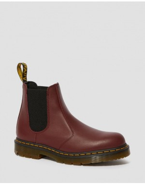 Dr.Martens 2976 SLIP RESISTANT LEATHER CHELSEA BOOTS - CHERRY RED INDUSTRIAL FULL GRAIN - Sale