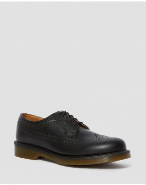 Dr.Martens 3989 SMOOTH LEATHER BROGUE SHOES - BLACK SMOOTH - Sale