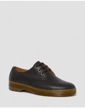 Dr.Martens CORONADO MEN'S WYOMING LEATHER CASUAL SHOES - BLACK WYOMING - Sale