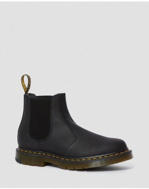 Black Friday Sale Dr. Martens 2976 DM'S WINTERGRIP CHELSEA BOOTS - BLACK SNOWPLOW