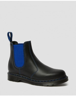 Black Friday Sale Dr. Martens 2976 POP NAPPA LEATHER CHELSEA BOOTS - BLACK NAPPA