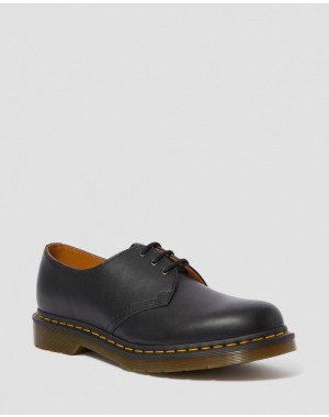 Black Friday Sale Dr. Martens 1461 NAPPA LEATHER OXFORD SHOES - BLACK NAPPA
