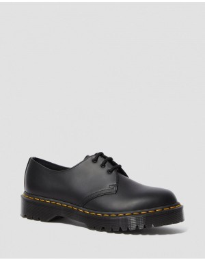 Black Friday Sale Dr. Martens 1461 BEX SMOOTH LEATHER OXFORD SHOES - BLACK SMOOTH