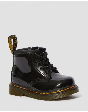 Black Friday Sale Dr. Martens INFANT 1460 PATENT LEATHER LACE UP BOOTS - BLACK PATENT LAMPER