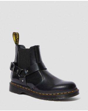 Dr.Martens WINCOX SMOOTH LEATHER BUCKLE BOOTS - BLACK POLISHED SMOOTH - Sale