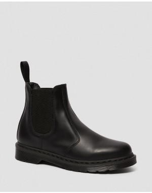 Black Friday Sale Dr. Martens 2976 MONO SMOOTH LEATHER CHELSEA BOOTS - BLACK SMOOTH