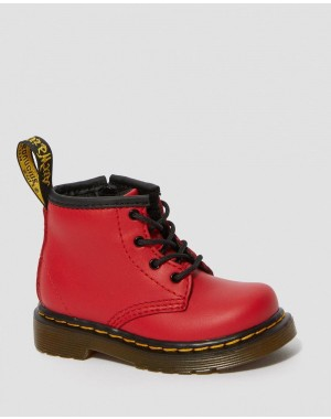 Dr.Martens INFANT 1460 LEATHER LACE UP BOOTS - RED ROMARIO - Sale