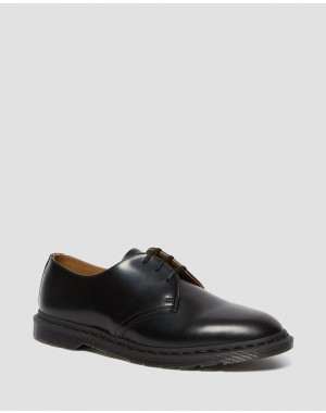 Black Friday Sale Dr. Martens ARCHIE II SMOOTH LEATHER LACE UP SHOES - BLACK POLISHED SMOOTH