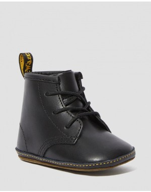 Black Friday Sale Dr. Martens NEWBORN 1460 AUBURN LEATHER BOOTIES - BLACK LAMPER