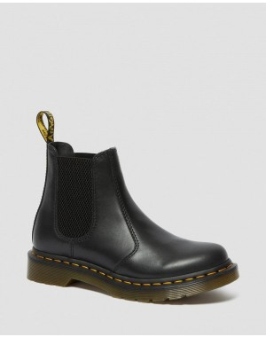 Black Friday Sale Dr. Martens 2976 WOMEN'S WANAMA LEATHER CHELSEA BOOTS - BLACK WANAMA