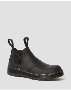 Black Friday Sale Dr. Martens HARDIE CONNECTION LEATHER CHELSEA WORK BOOTS - BLACK CONNECTION