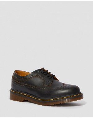 Black Friday Sale Dr. Martens 3989 VINTAGE MADE IN ENGLAND BROGUE SHOES - BLACK QUILON