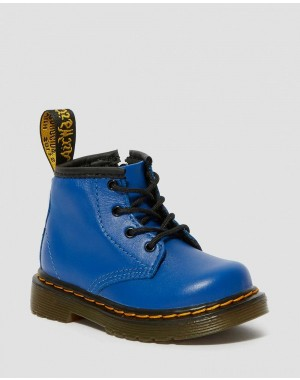 INFANT 1460 LEATHER LACE UP BOOTS - BLUE ROMARIO