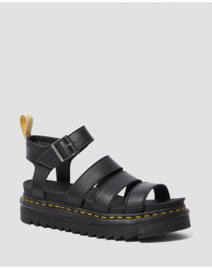 Dr.Martens VEGAN BLAIRE WOMEN'S FELIX GLADIATOR SANDALS - BLACK FELIX RUB OFF - Sale